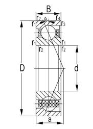 Rodamientos de bolas de contacto angular de súper precisión de servicio ligero de la serie 7000